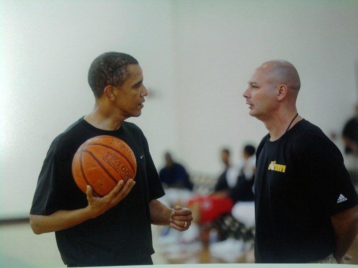 coach david smith with obama
